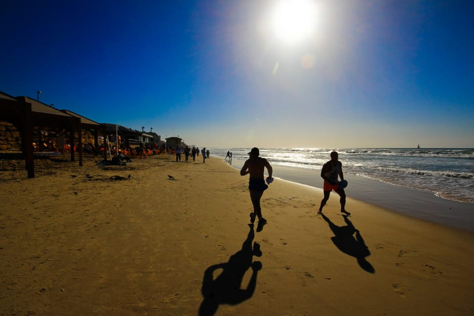 Matkot at one of the Tel-Aviv beaches