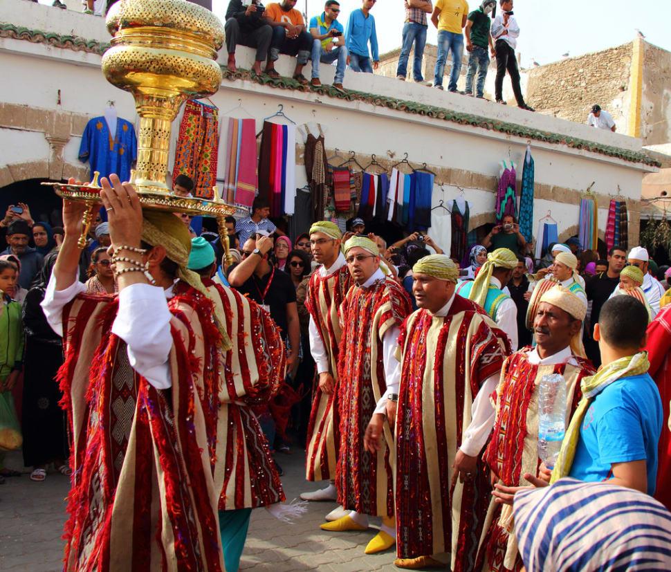 Parade d'ouverture. Festival Gnaoua à Essaouira