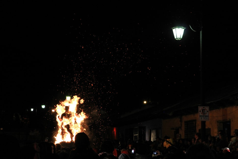 Best time for Quema del Diablo or Burning the Devil in Guatemala