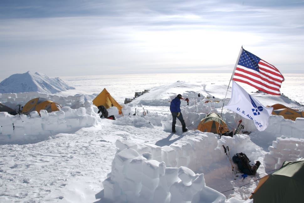 Mt. McKinley Base Camp Flags