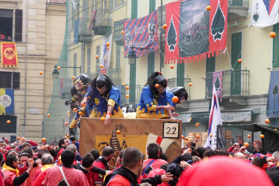 Ivrea Battle of the Oranges in Italy - Best Season