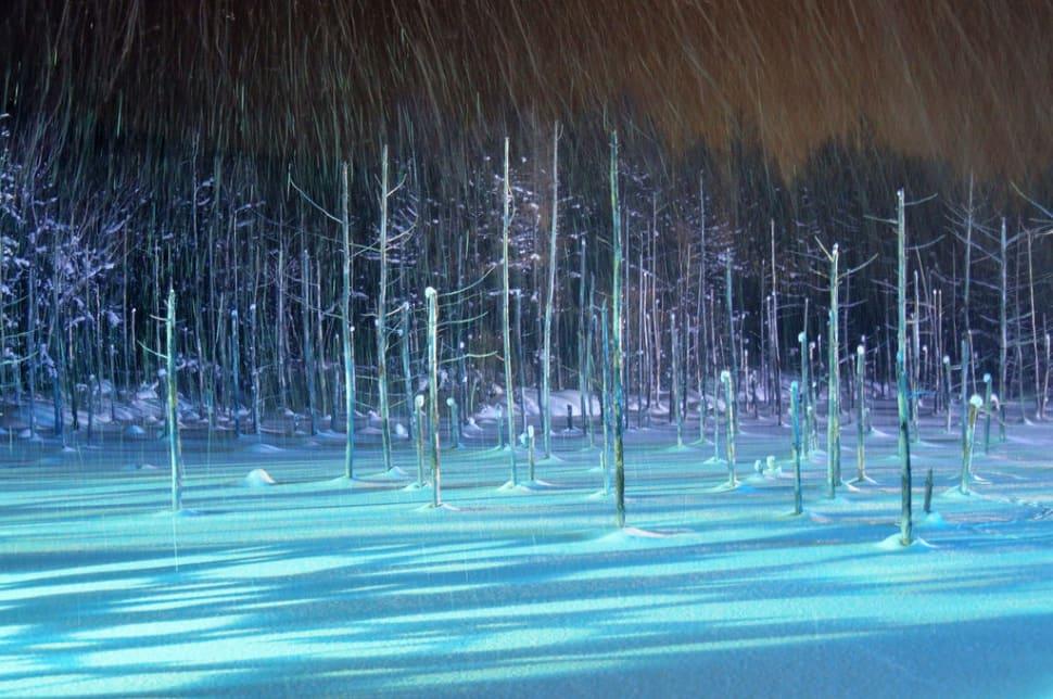Winter Magic of Biei Blue Pond in Japan - Best Time