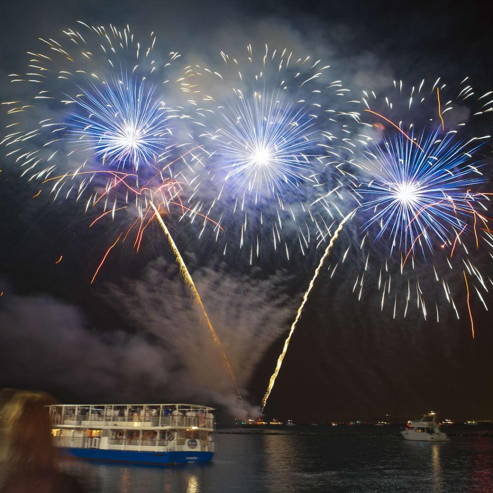 Summer Fireworks at Navy Pier  in Chicago - Best Season