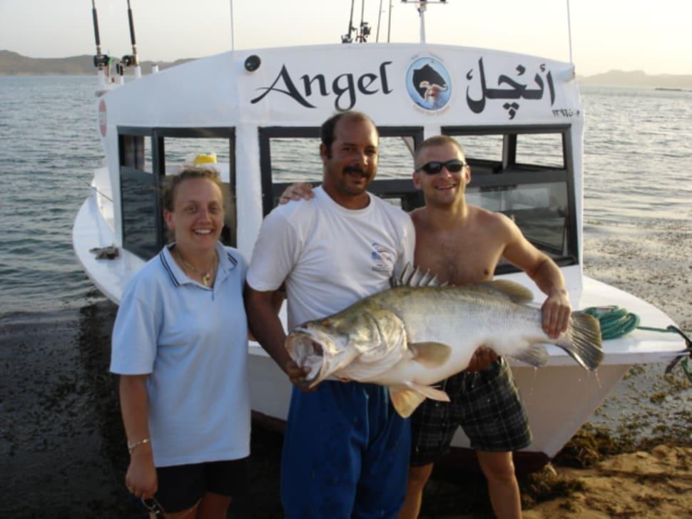 55lb Nile perch on Lake Nasser