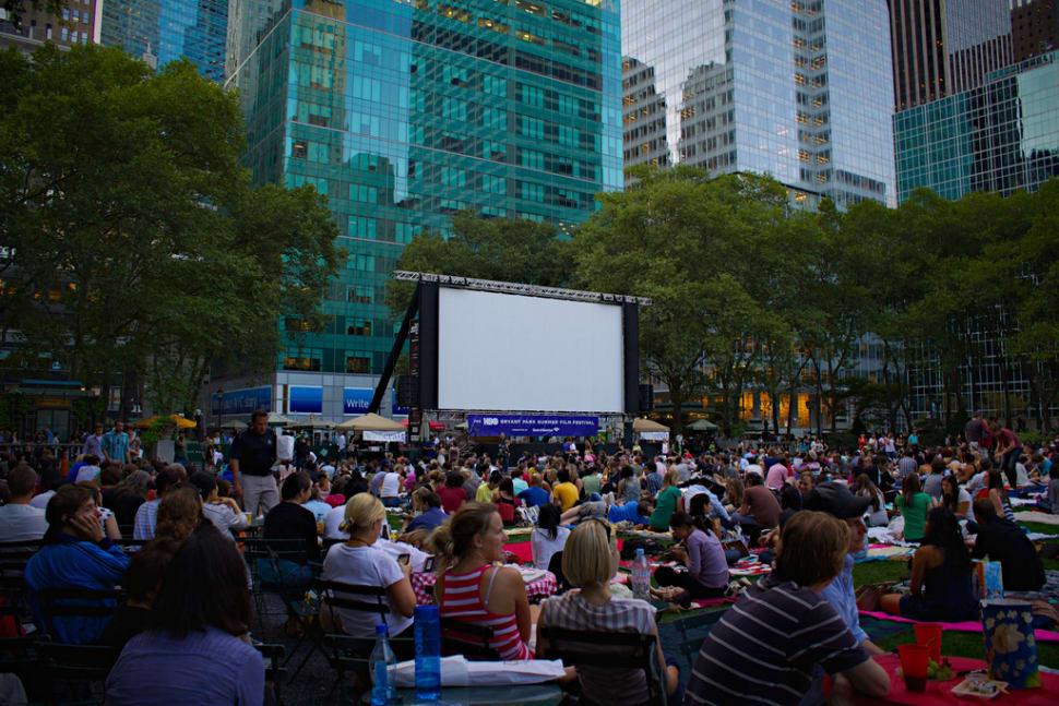 Bryant Park, New York. HBO Summer Film Festival.