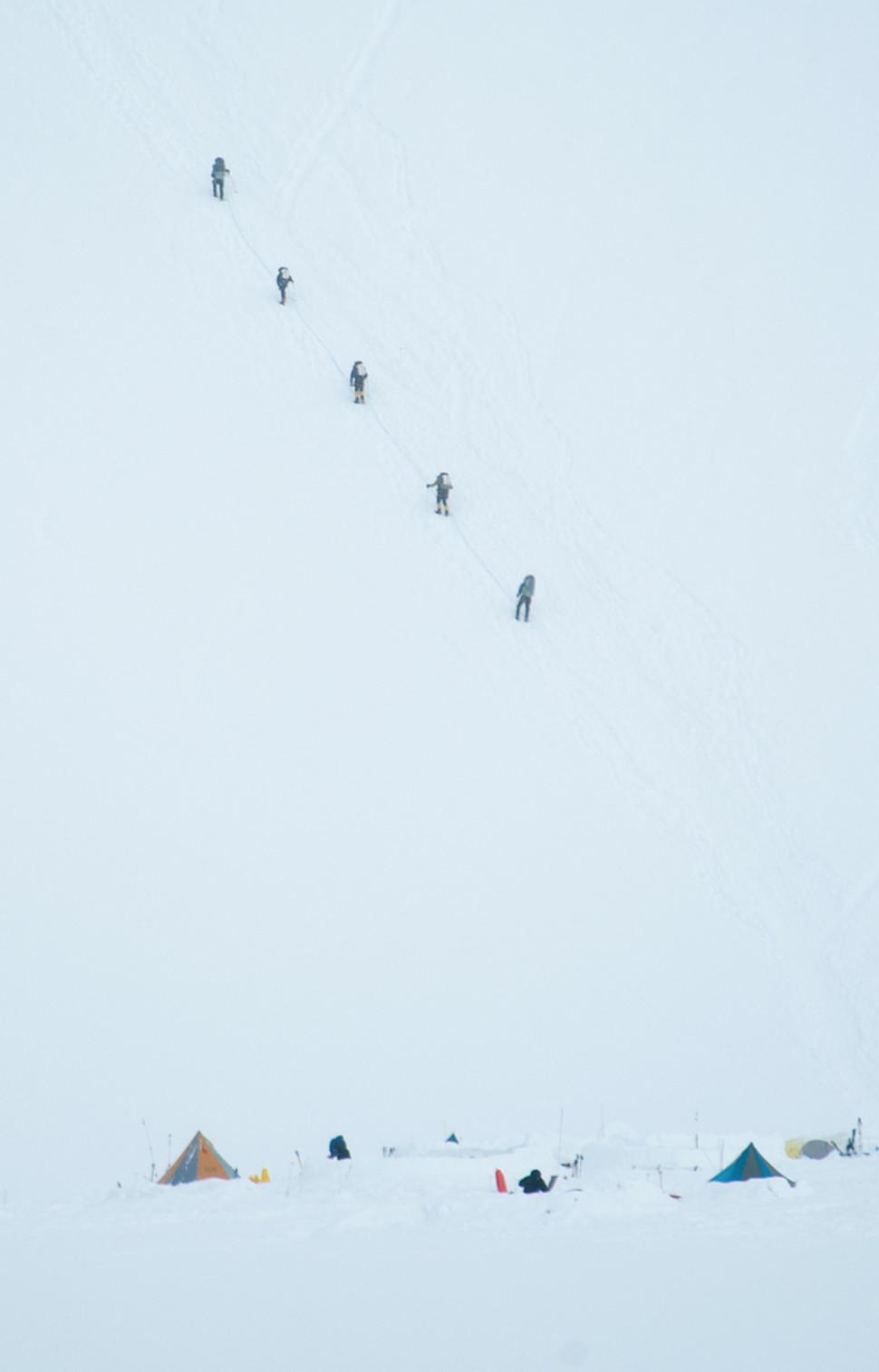 Climbers on McKinley