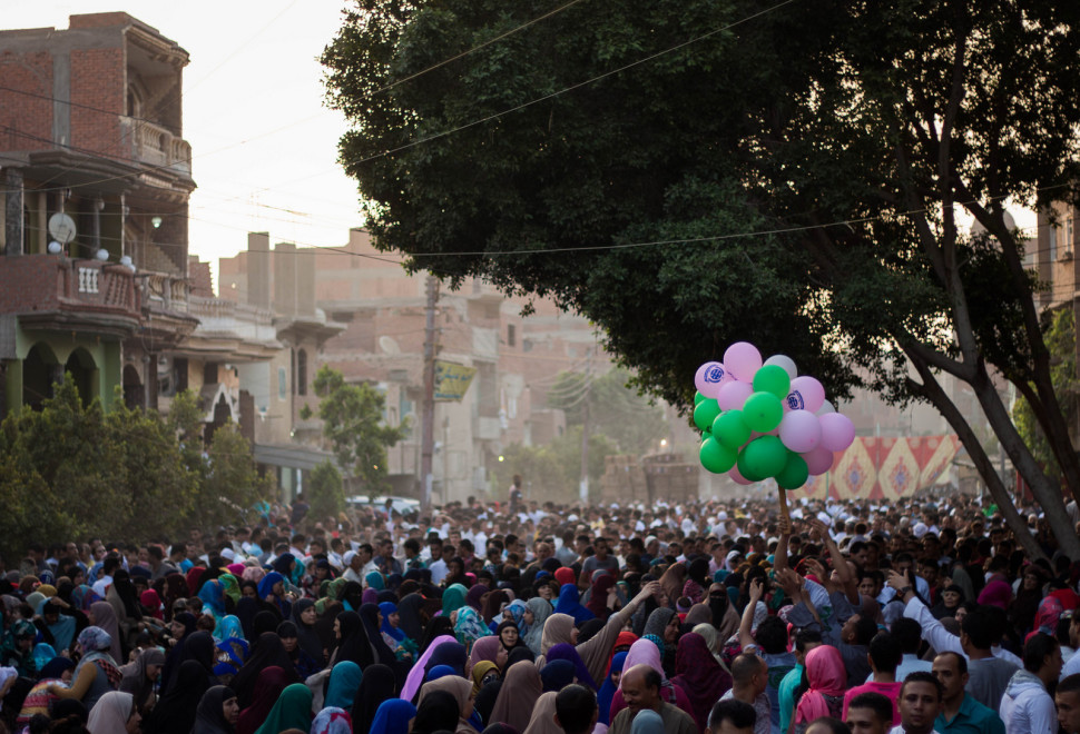 Egyptian Muslims attend Eid Al-Fitr prayers in the early morning to mark the end of the holy fasting month of Ramdan.