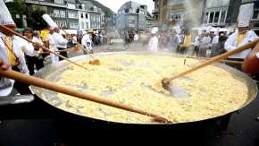 Giant Omelette in Malmedy
