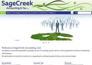 Sage Creek Accounting website