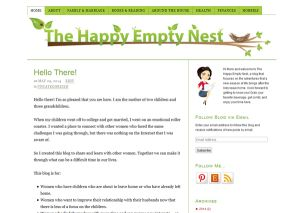 The Happy Empty Nest website
