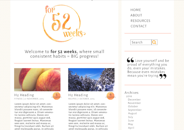 for 52 weeks website