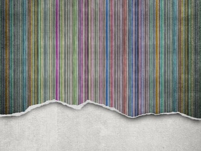 ミューラル壁紙 R10362 Worn Wall, Multi Stripe 画像 1 by Rebel Walls