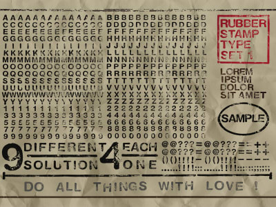 Wall Mural R12263 Rubber Stamp, wide image 1 by Rebel Walls
