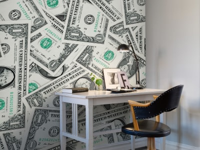 Mural de pared R10461 One Dollar imagen 1 por Rebel Walls