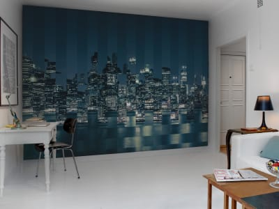 Mural de pared R10682 Big Apple Squares imagen 1 por Rebel Walls