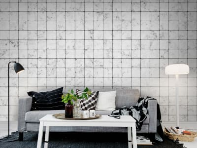 Mural de pared R12001 Marble Tiles imagen 1 por Rebel Walls