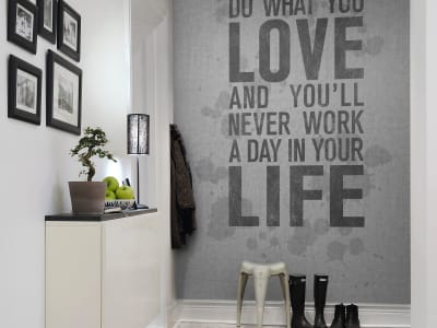 Mural de pared R12402 Quotes, concrete imagen 1 por Rebel Walls