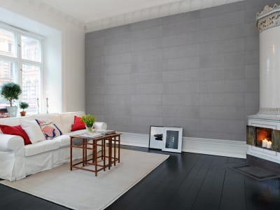 Wall Mural R10911 Rectangular Concrete Tiles image 1 by Rebel Walls