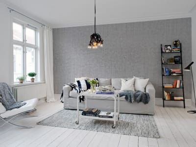Tapet R10921 Plain Concrete, light grey bild 1 från Rebel Walls