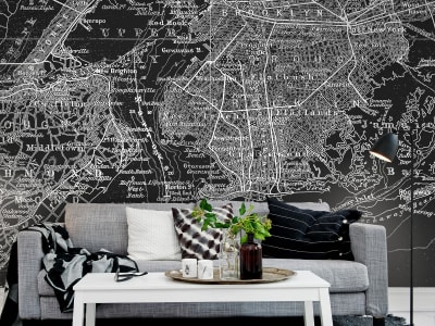 Mural de pared R10903 Map of NY imagen 1 por Rebel Walls