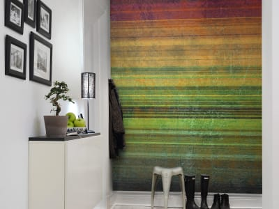 Mural de pared R11091 Striped Curtain imagen 1 por Rebel Walls