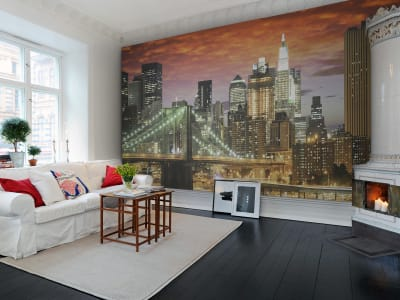 Mural de pared R11651 Brooklyn Bridge imagen 1 por Rebel Walls