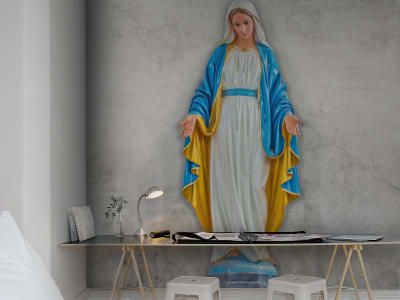 Mural de pared R12321 Virgin Mary, concrete imagen 1 por Rebel Walls