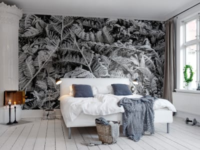 Mural de pared R12941 Frost Leaf imagen 1 por Rebel Walls