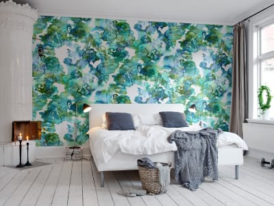 Mural de pared R13122 Lily Pond imagen 1 por Rebel Walls