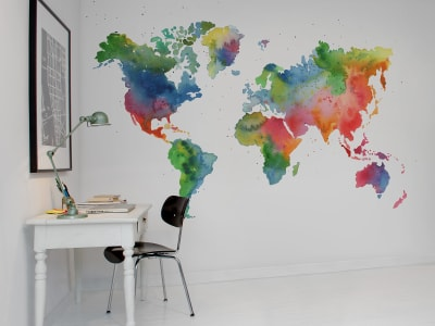 Mural de pared R13431 Rainbow World imagen 1 por Rebel Walls