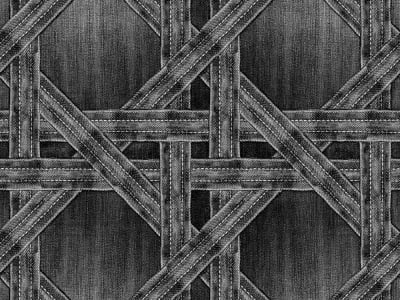 ミューラル壁紙 R13562 Denim Trellis, black 画像 1 by Rebel Walls