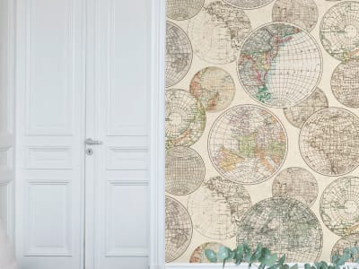 Décor Mural R13881 Globes Gathering image 1 par Rebel Walls