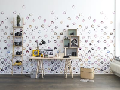 Mural de pared R13952 Lenses, Peach imagen 1 por Rebel Walls