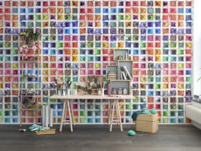 Mural de pared R13961 Rainbow Palette imagen 1 por Rebel Walls