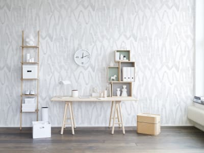 Wall Mural R14092 Pulse of Passion, White image 1 by Rebel Walls