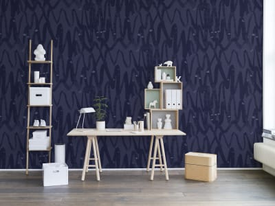 Wall Mural R14093 Pulse of Passion, Blue image 1 by Rebel Walls