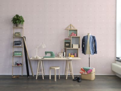 Tapet R14113 Perfect Fit, Powder Pink bilde 1 av Rebel Walls