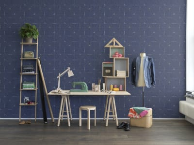 Tapete R14114 Perfect Fit, Royal Blue Bild 1 von Rebel Walls