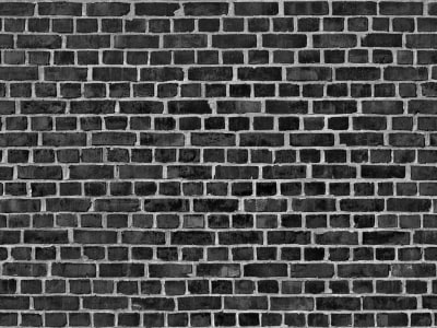 Mural de pared R10962 Brick Wall, black imagen 1 por Rebel Walls