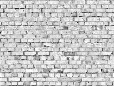 Tapete R10963 Brick Wall, white Bild 1 von Rebel Walls