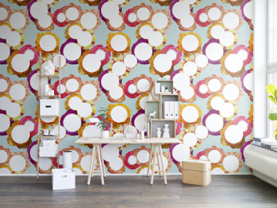 Mural de pared R13101 Flower Dot imagen 1 por Rebel Walls