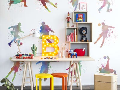 Murale R13262 Footboll, Color ​​immagine 1 di Rebel Walls