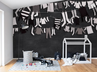Mural de pared R14441 Laundry Day imagen 1 por Rebel Walls