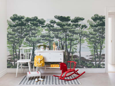 Mural de pared R14461 The Enchanted Forest, Daylight imagen 1 por Rebel Walls