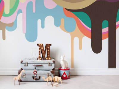 Mural de pared R14521 Dripping Ice Cream imagen 1 por Rebel Walls