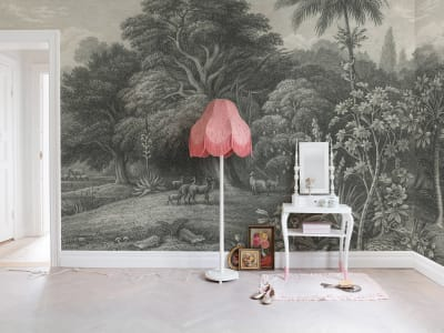 Mural de pared R14611 Jungle Land, Vintage imagen 1 por Rebel Walls