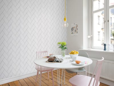 ミューラル壁紙 R14781 Fishbone Tiles 画像 1 by Rebel Walls