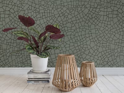 Mural de pared R14672 Raku Crackle, Jade imagen 1 por Rebel Walls