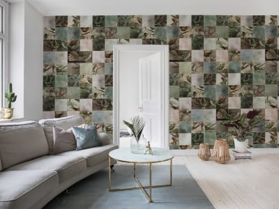 Tapeta ścienna R15071 Birds of Paradise, Tiles obraz 1 od Rebel Walls