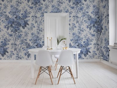 Mural de pared R13255 Porcelain, Blue imagen 1 por Rebel Walls
